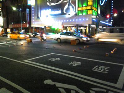 ある日の台湾の路上